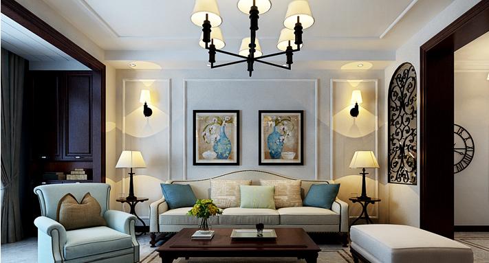 重庆新房装修案例_120平米美式风格装修效果图27.