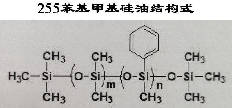 255苯基甲基硅油结构式1