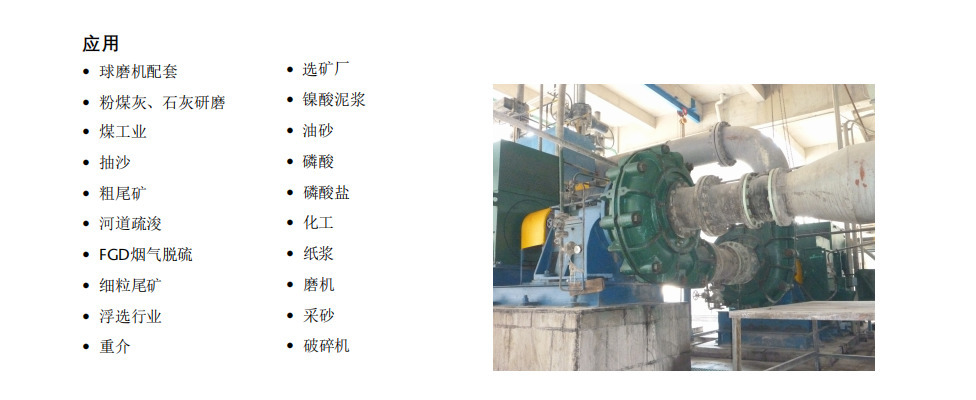 AH渣浆泵应用行业