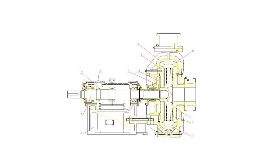 ZGB渣浆泵结构图