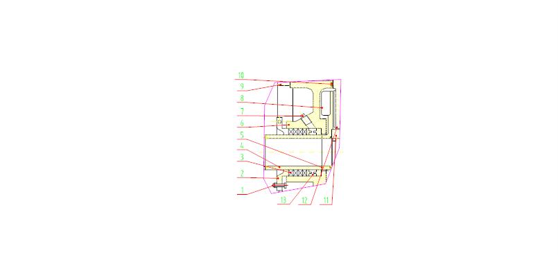 副叶轮填料压盖轴封结构