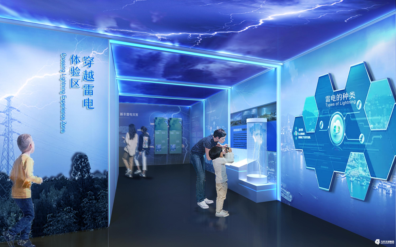 雷电体验区 广东省新丰县气象局气象科普馆   现代科技  新型气象展馆 气象知识