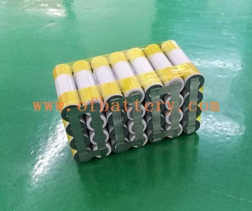 A 7-strand 18650 semi-finished lithium battery