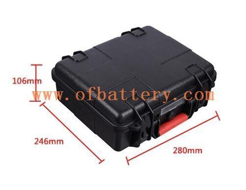 Portable suitcase battery size schematic diagram