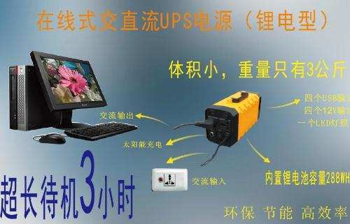 Function display of portable energy storage emergency power supply