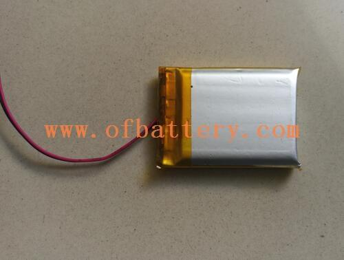 The PL603040 polymer battery looks like this