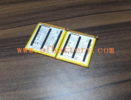 Lithium polymer mobile phone battery case display