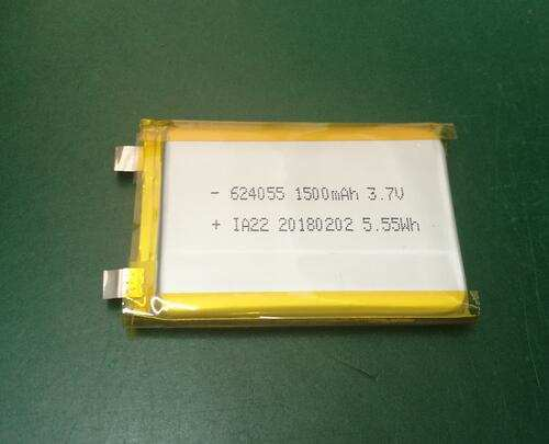 624055 polymer lithium cell
