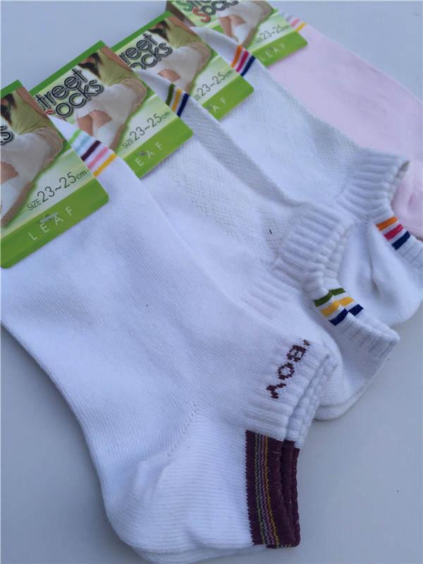 纯棉外贸船袜