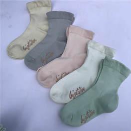 外贸纯色童袜