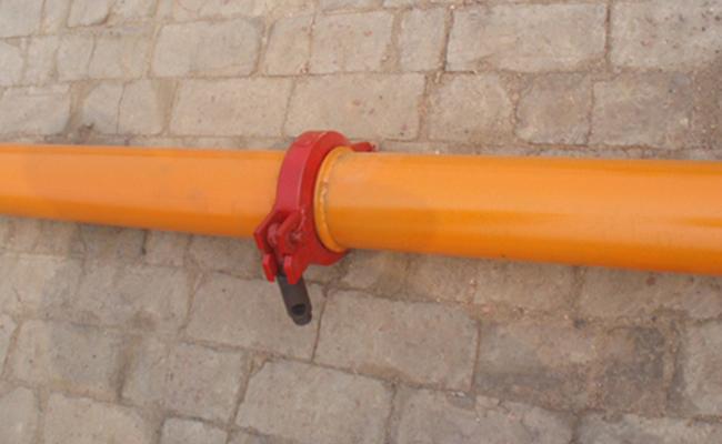 连接好的地泵管