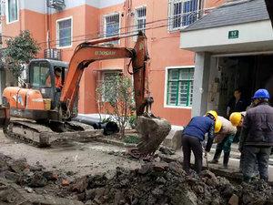 上海小区管道开挖改造