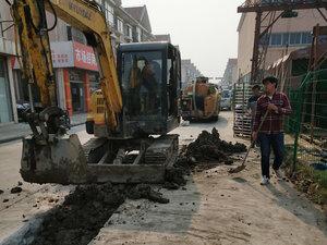 上海园区街道管道开挖改造