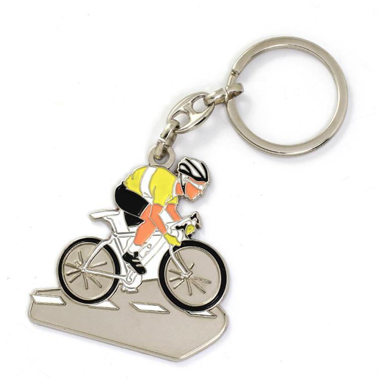Custom Metal Bike Key Ring from manufacturer in China