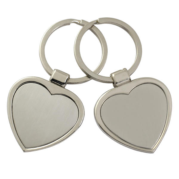 Customized made metal blank sublimation keychains from China