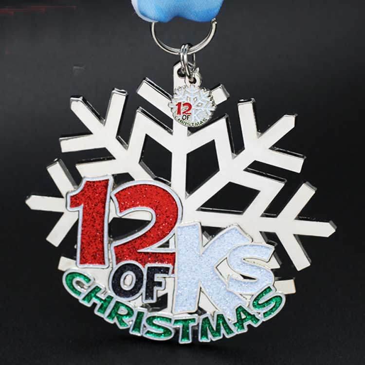 Silver Powder Snowflake Medal from China