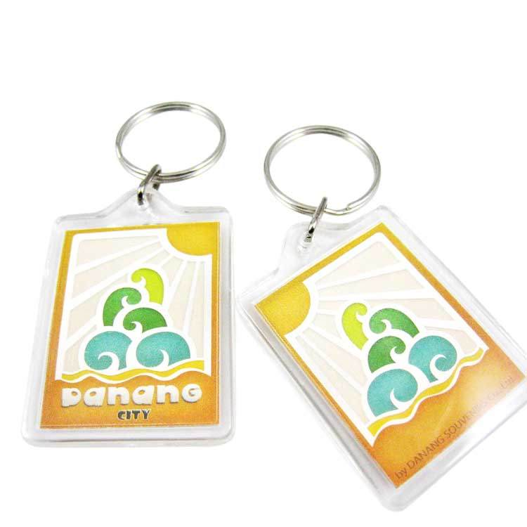 Plastic Acrylic Photo Keychain