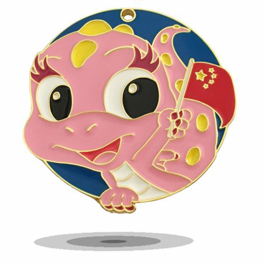 Cuttie Kid Metal Badge With Smile Soft Enamel Personalized Lapel Pin Badge