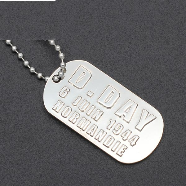 Wholesale Custom Metal Blank Embossed ID Pet Dog Tag with chain
