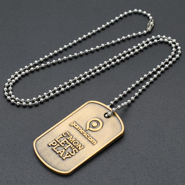 Wholesale sublimation blank metal dog tag with chain
