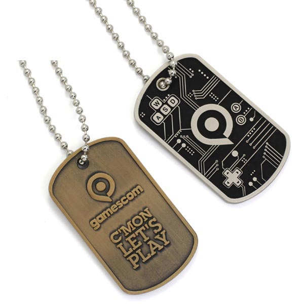 Bulk Cheap Custom Fashion Logo Metal Couple Sublimation Blank Metal Dog Tag from Chese factory