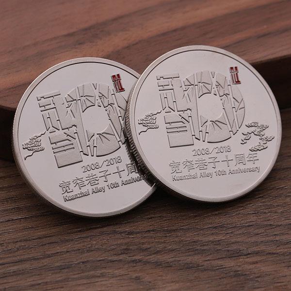Cute custom gold silver souvenir metal coin
