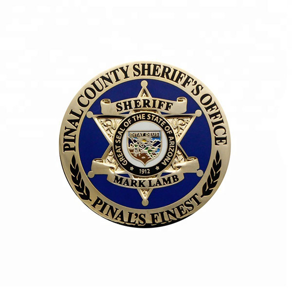 sheriff coin freedom challenge coin no MOQ 3D military coin