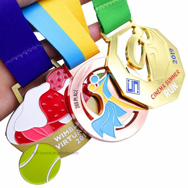 Custom bronze metal medal sports military soccer swimming medal (2)