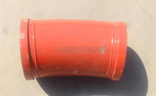 铸钢DN125*R275*15泵车弯管的背面