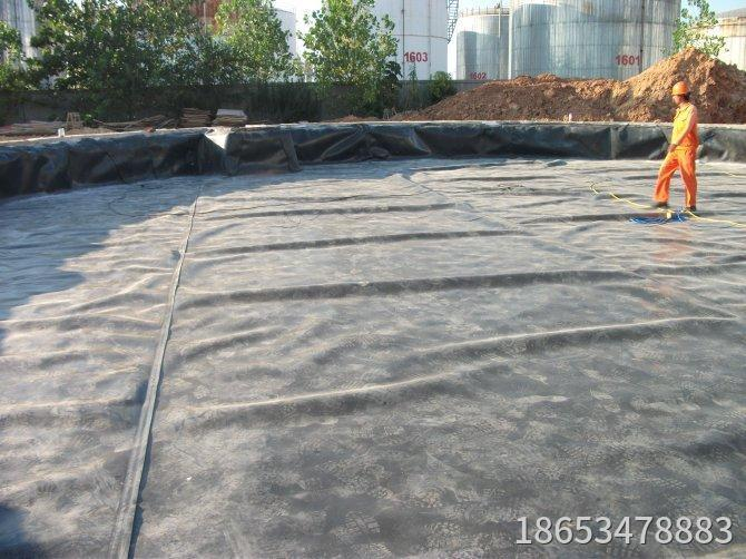 HDPE geomembrane for oil depot seepage control