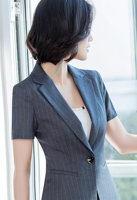 广安女士职业装定制,酒店房地产工作服定制