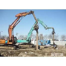 钢板桩挖掘机租赁