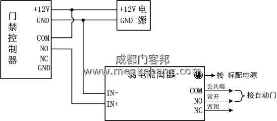 自动门控制器接线图解