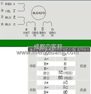 感应门电机8根线分别是什么,直流电机8根线接线实物图