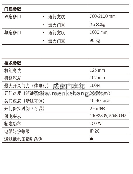 多玛精睿ES68自动门中文说明书,多玛自动门调试说明书,多玛自动门中文说明书