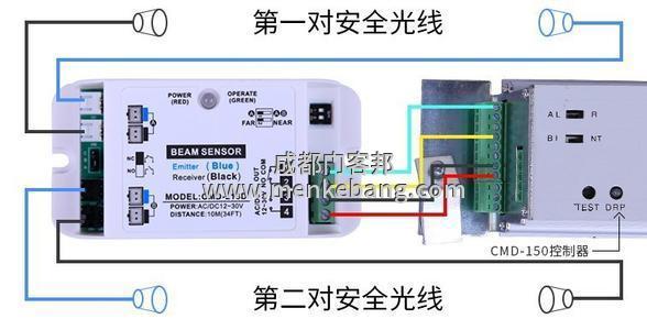 自动门安全光线接线图,怎么接感应门安全光线