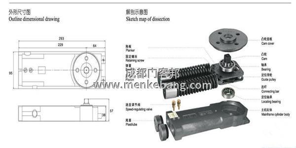 地弹簧安装,玻璃门地弹簧安装,地弹簧安装方法
