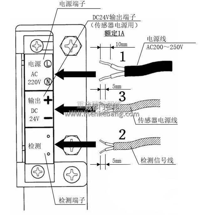 自动门感应器接几根线,自动门控制器红外感应接线图