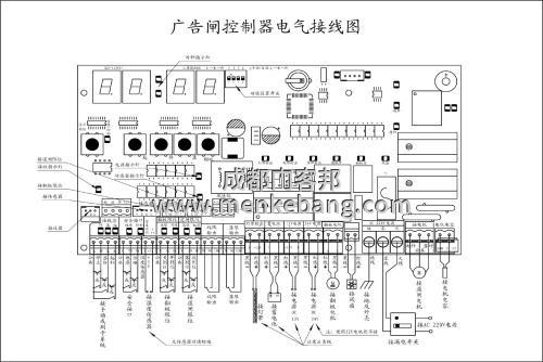 道闸控制器接线图解析,道闸控制器维修