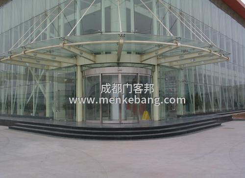 弧形门玻璃自动门定制安装