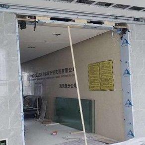 新都区感应门安装维修案例