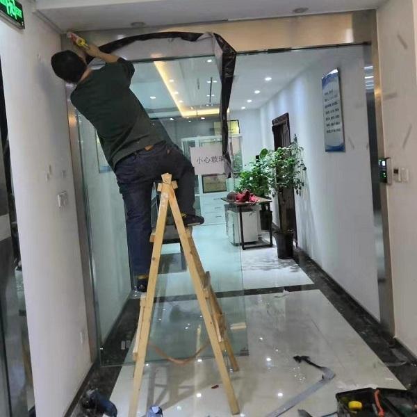 成都门禁自动门安装案例,办公室门禁自动门