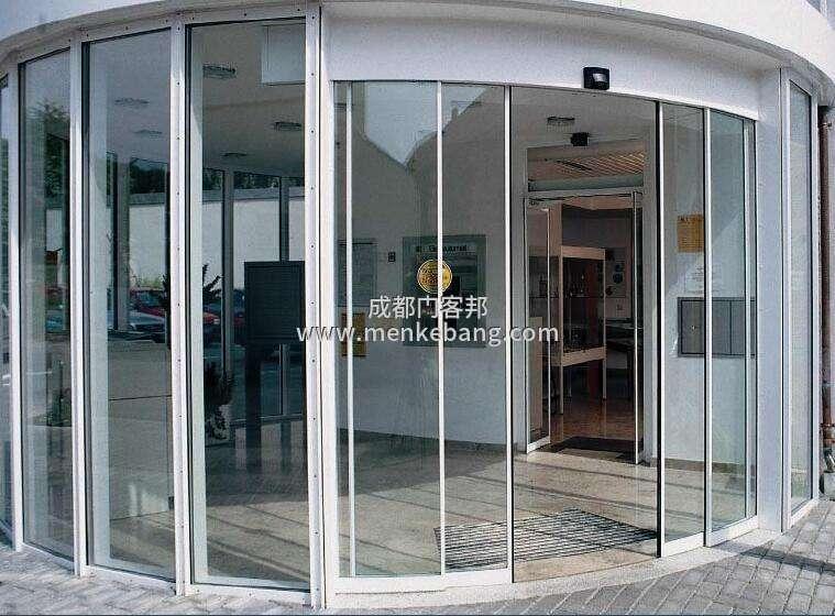 成都电动弧形门,玻璃电动弧形门