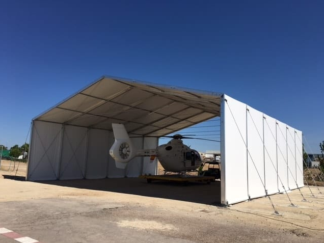 Helicopter Hangar for Emergency Sanitary Aid
