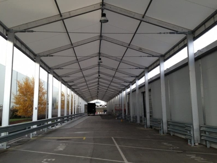 Warehouse tent used for industrial