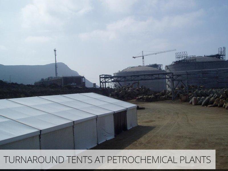 Temporary warehouse tents