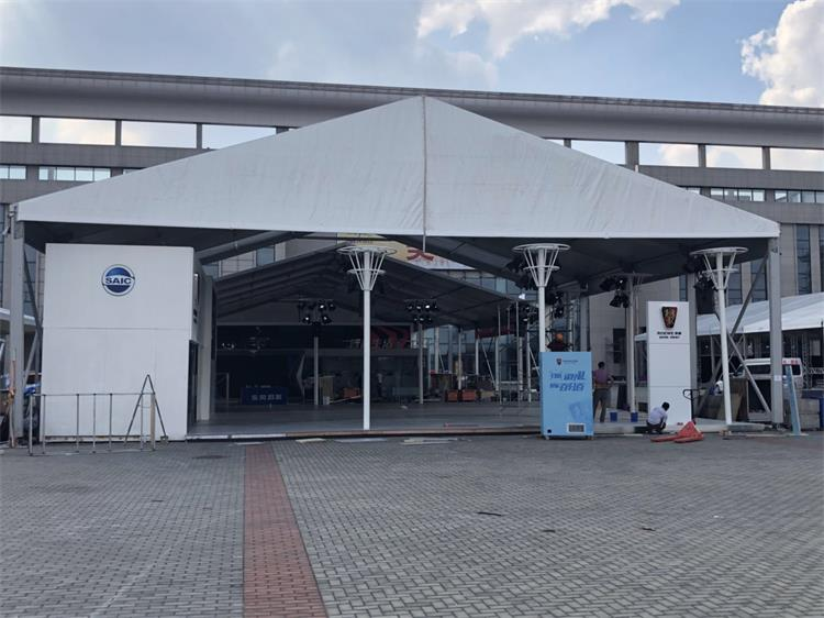 Temporary warehouse tent for Wind Power Facility