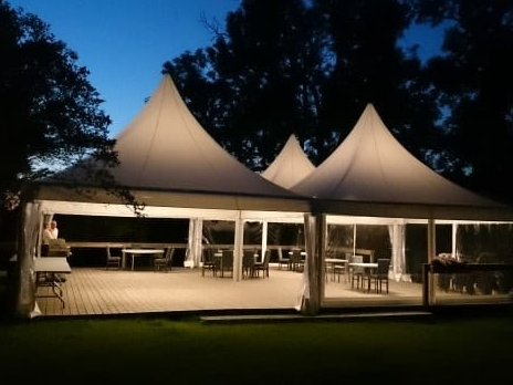 Pagoda Tent used for a wedding at 18th Century Palace