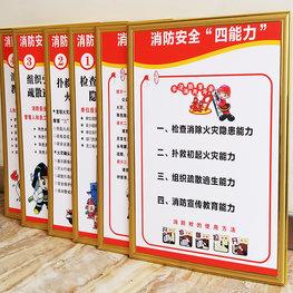 襄阳广告,消防制度牌展板