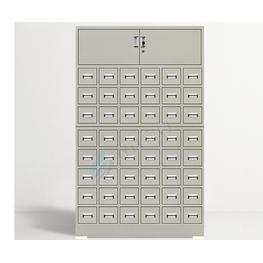 48斗白钢中药柜